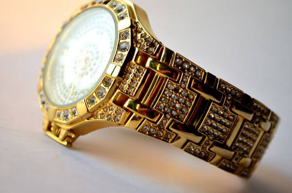 Jewelry Watch Gold Diamonds photo