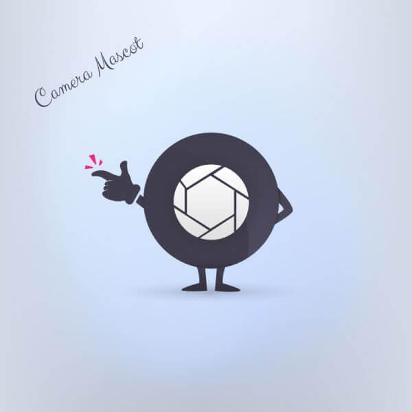 Camera Mascot vector