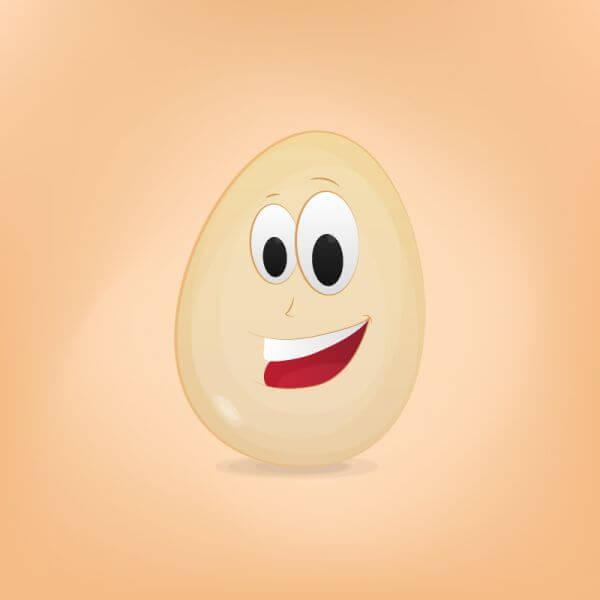 Egg Cartoon Character vector