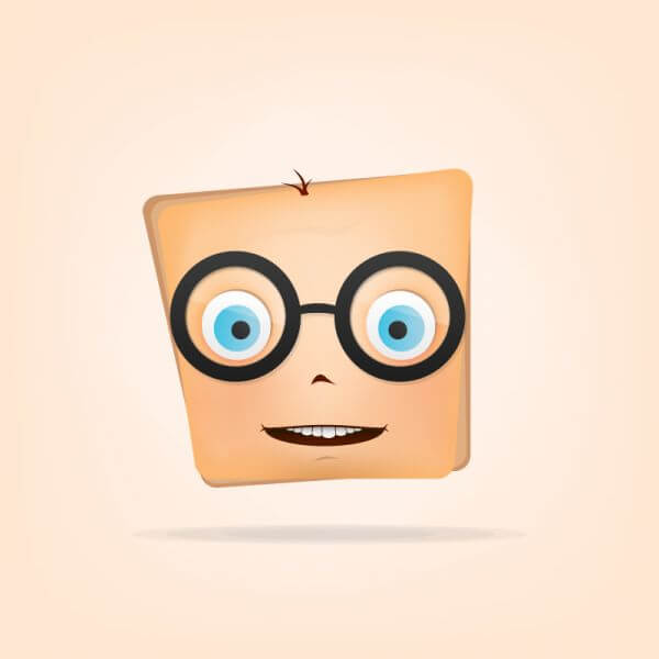 Character with Glasses vector
