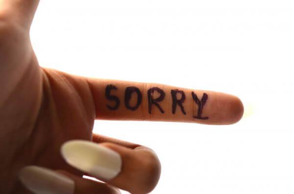 Sorry On Finger 2 photo