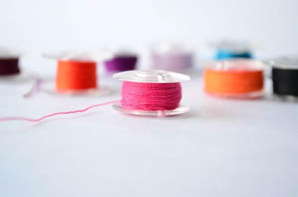 Spools Of Colored Thread photo