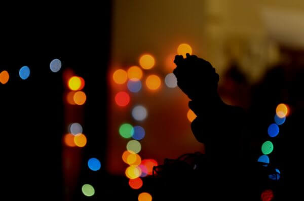Bokeh Lights Angel photo