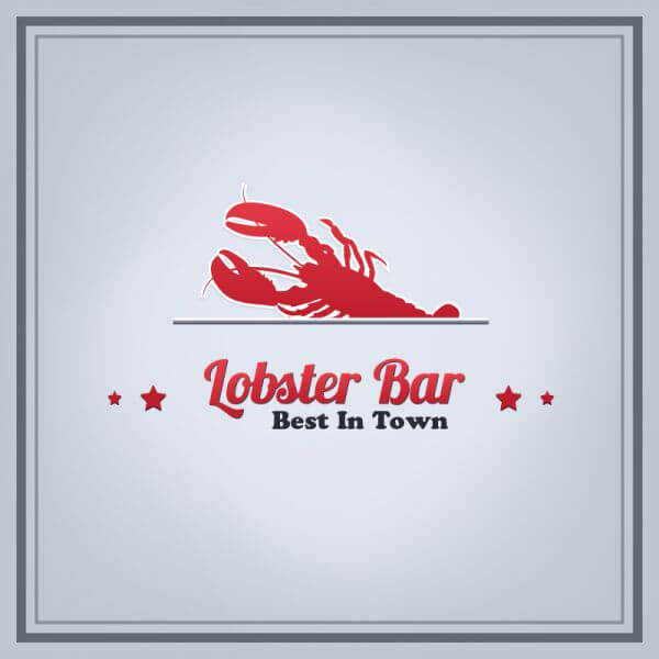 Lobster Bar Illustration vector