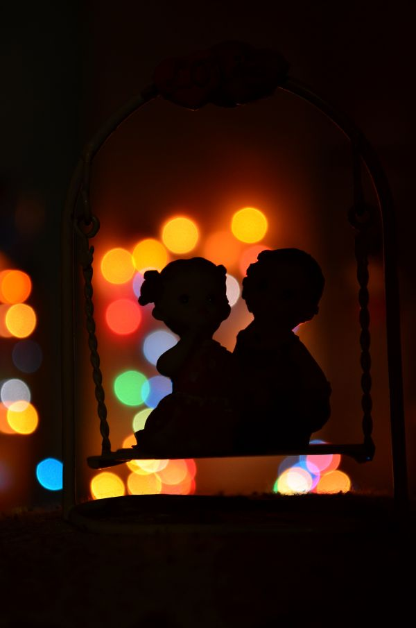 Bokeh Lights Couple Love photo
