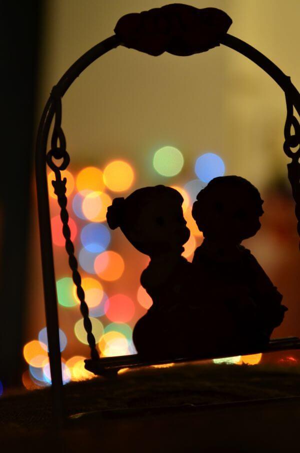 Bokeh Swing Couple photo