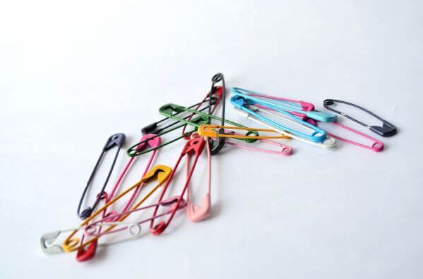Colorful Assorted Safety Pins photo