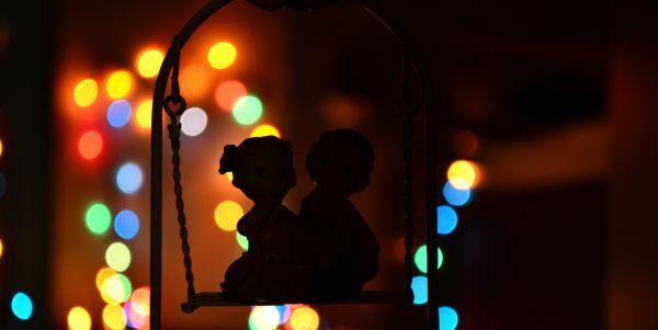 Couple Bokeh Light Orbs photo