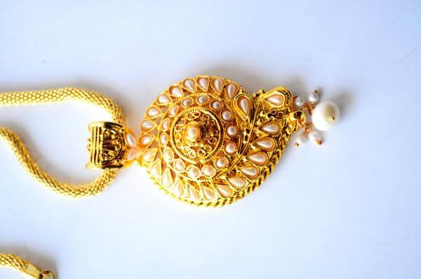 Gold Ornaments Necklace photo