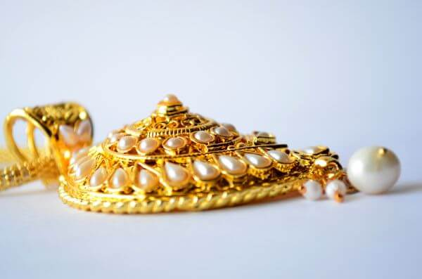 Gold Ornaments Pearl photo