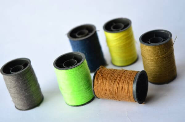Green Cool Colors Threads Spools photo