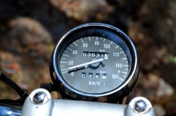 Motorcycle Speedometer photo