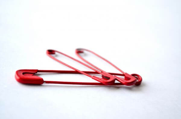 Red Safety Pins photo