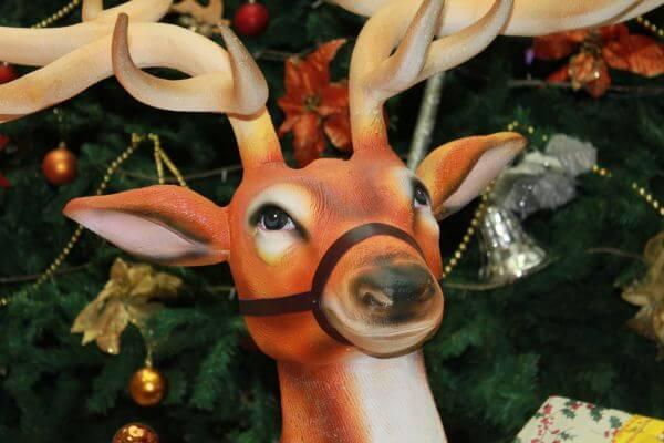 Reindeer Christmas Tree Closeup photo