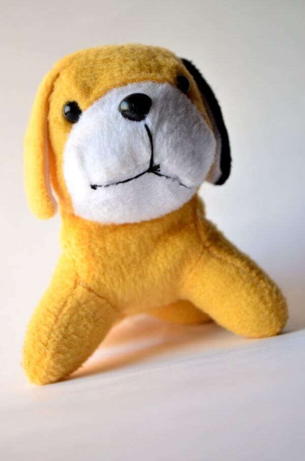 Yellow Dog Soft Toy photo