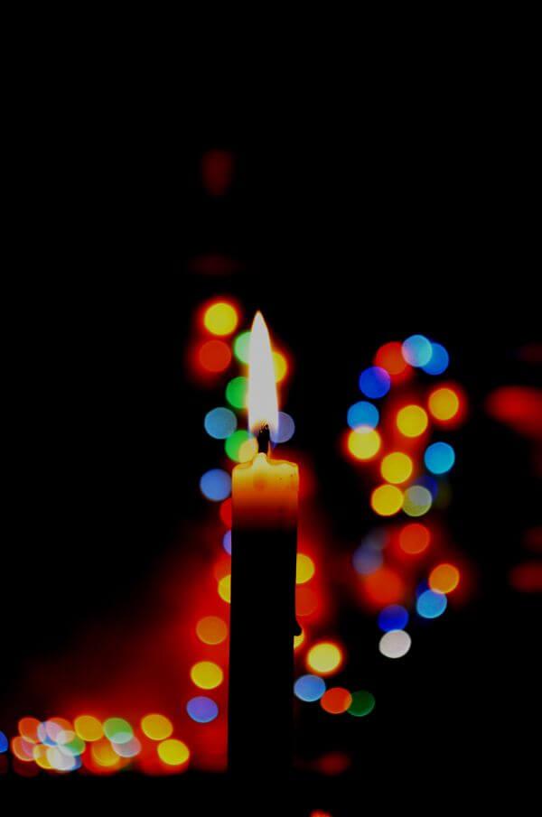 Candle Christmas Lights Colorful photo