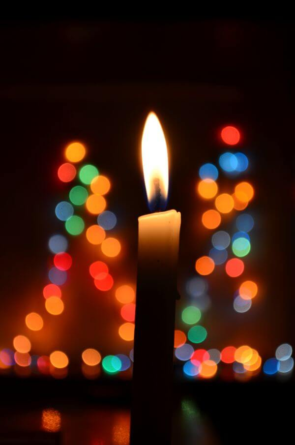 Candle Flame Bokeh Lights photo