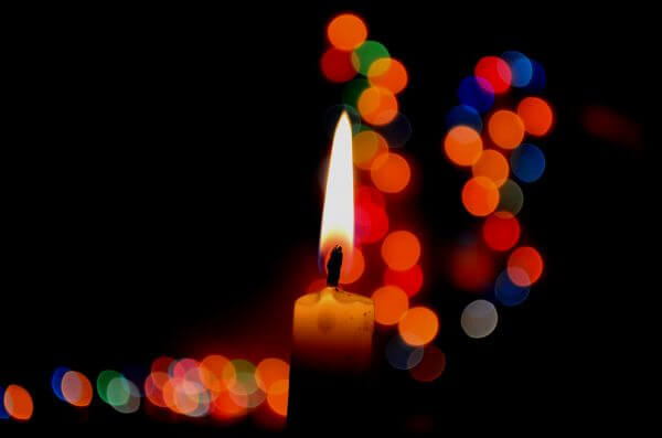 Candle Flame Bokeh photo