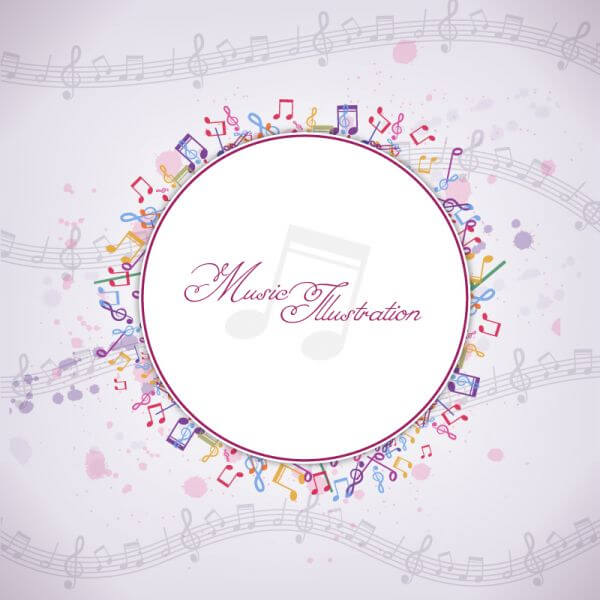 Vector Musical Background vector
