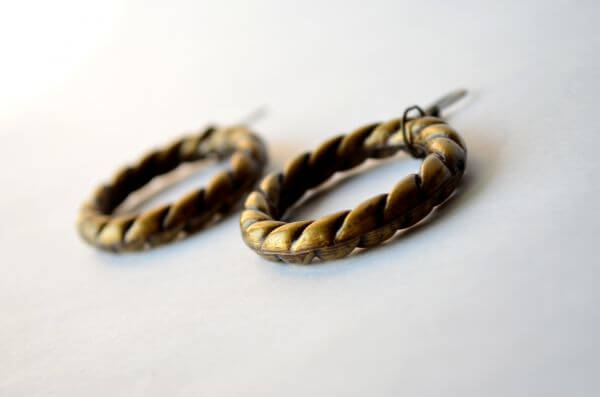 Earrings Brass Copper photo
