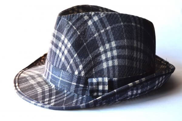 Fashion Checked Hat photo