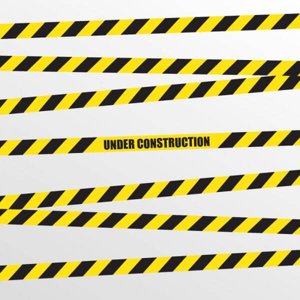 Under Construction Vector Background vector