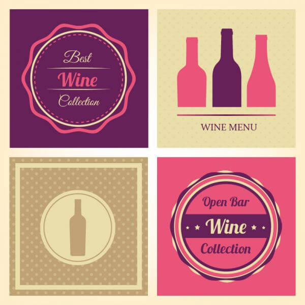 Vector Wine Labels vector