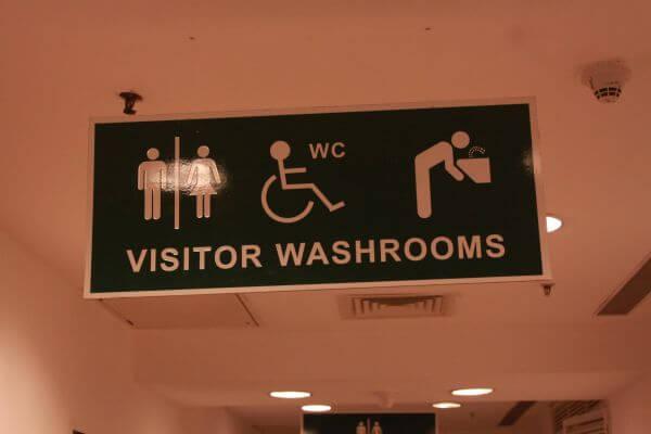 Washrooms Restroom Board Sign photo