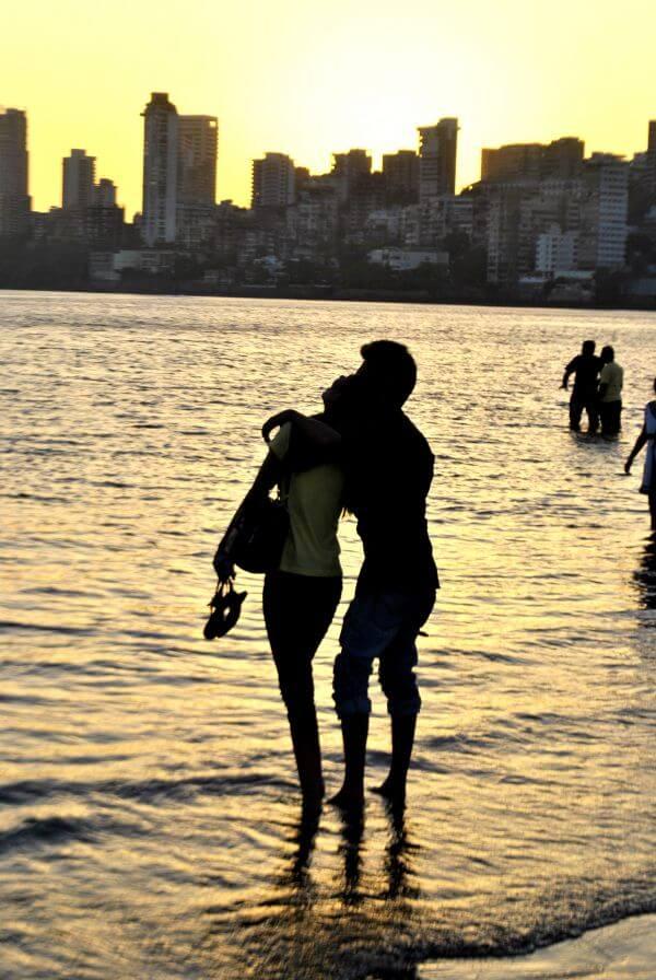 Couple On Beach Silhouette photo