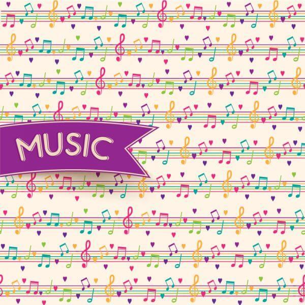 Vector Music Background vector