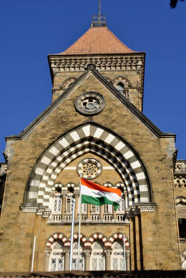 Indian Flag On Official Building photo
