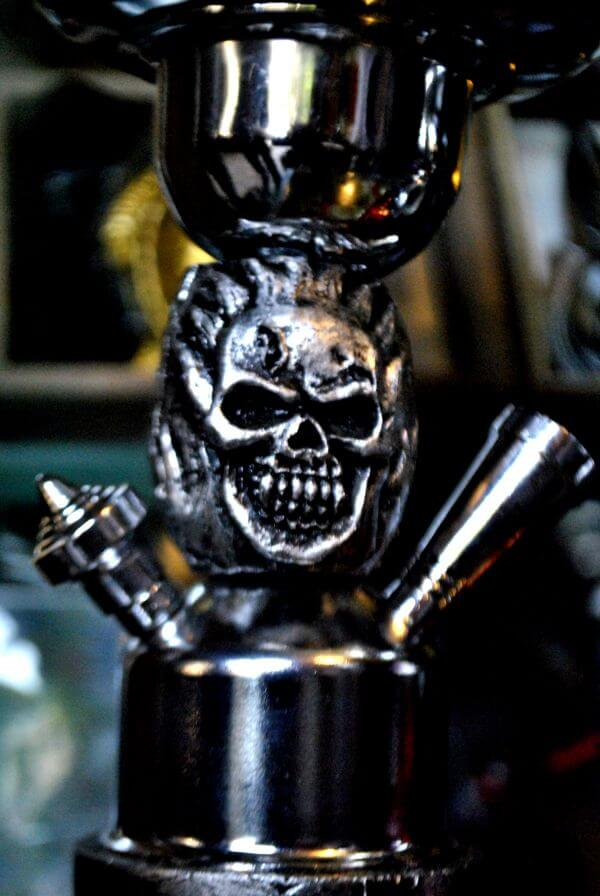 Skull On Metal Hookah photo