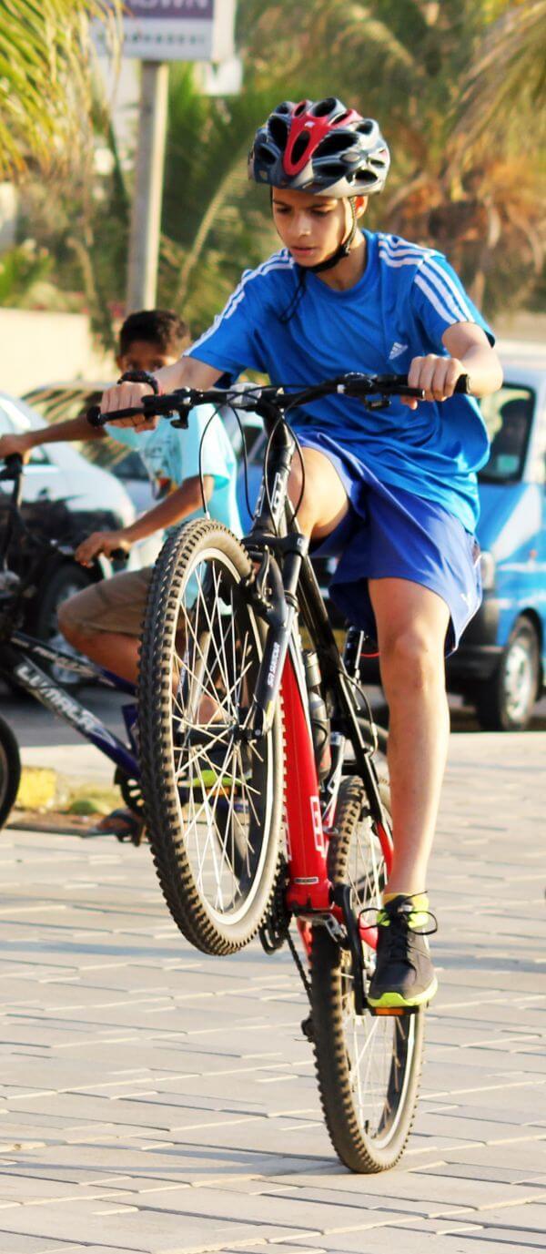 Bicycle Wheelie photo