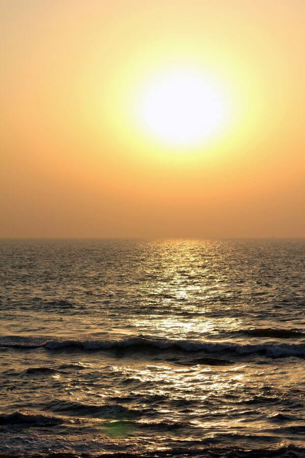Sunset Sea Waves photo