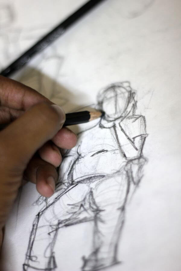 Artist Sketching Portrait photo