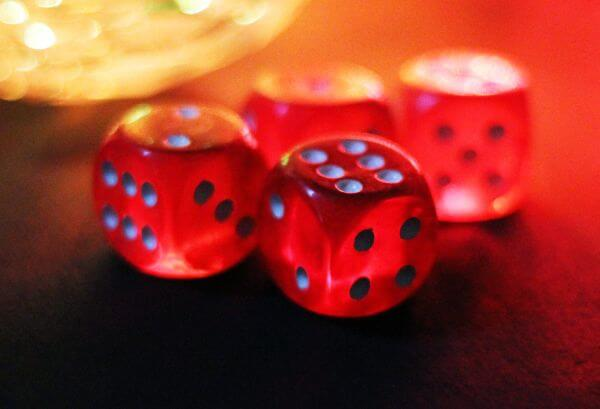 Dice Red Colored photo