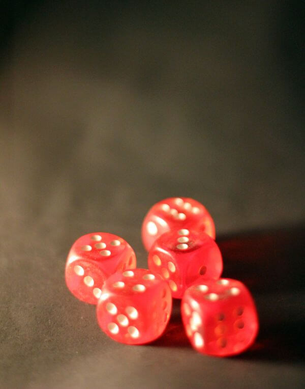 Red Colored Dice photo