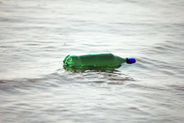 Bottle Floating Sea photo