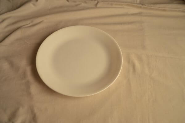Single Dish With Tablecloth photo