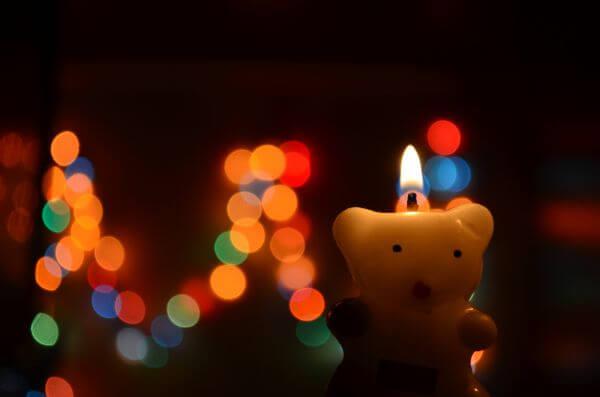 Bokeh Lights Candle photo