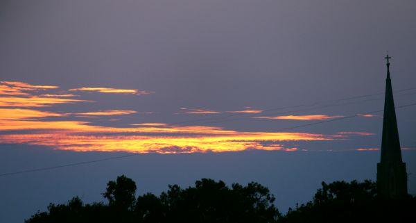 Church Cross On Evening Sky photo