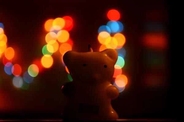 Teddy Cute Candle photo