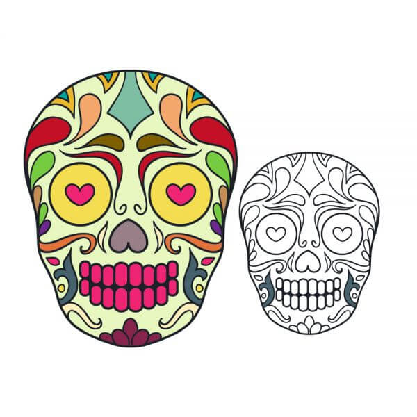 Vector sugar skull illustration vector