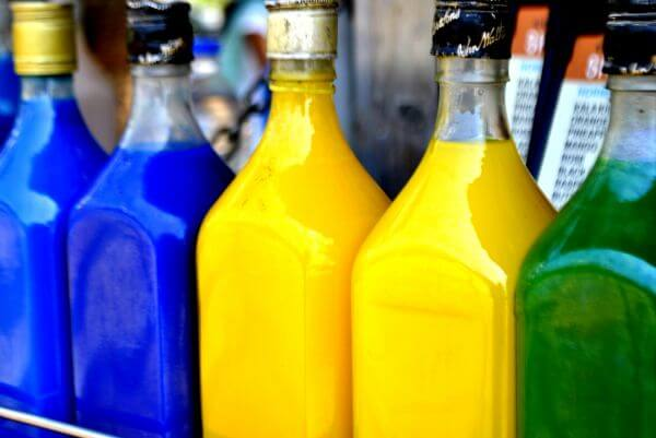 Colored Liquid Bottles photo