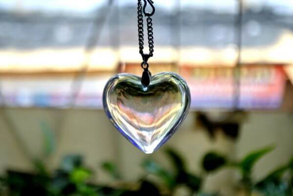 Glass Heart Pendant photo