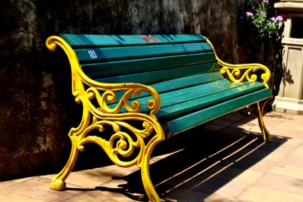 Park Bench Painted photo