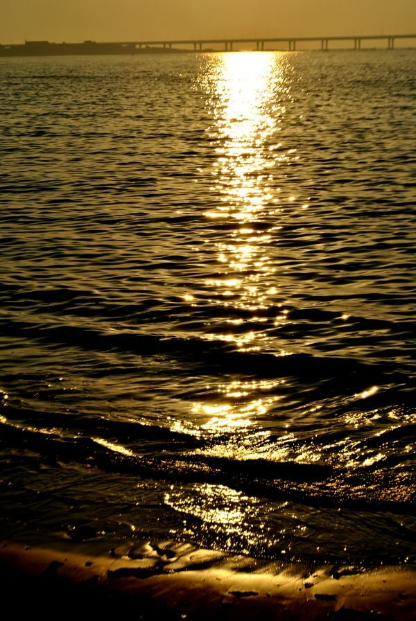Sea Waves Sunset photo