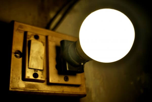 Antique Switch Board Light Bulb photo