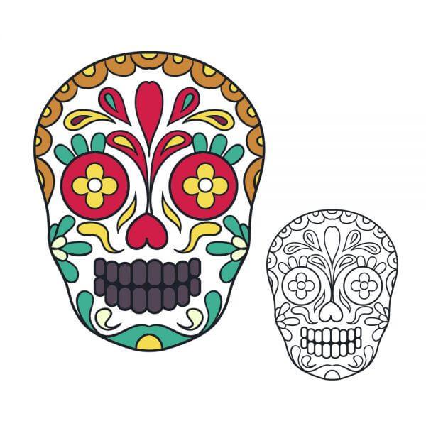 Vector sugar skull illustration vector