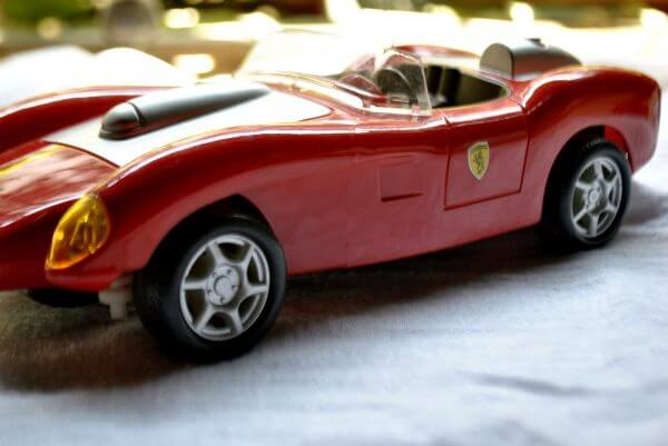 Red Colored Sports Car Toy photo